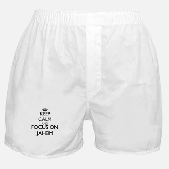 Keep Calm and Focus on Jaheim Boxer Shorts