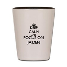 Keep Calm and Focus on Jaiden Shot Glass