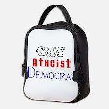 Gay Atheist Democrat Neoprene Lunch Bag