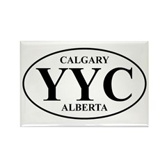 Calgary Rectangle Magnet