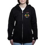I Love Beer Women's Zip Hoodie