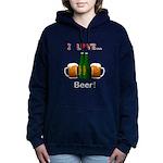 I Love Beer Women's Hooded Sweatshirt