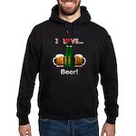 I Love Beer Hoodie (dark)