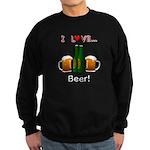 I Love Beer Sweatshirt (dark)