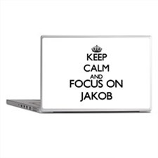 Keep Calm and Focus on Jakob Laptop Skins