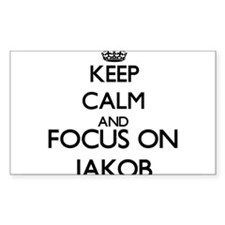 Keep Calm and Focus on Jakob Decal