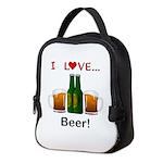 I Love Beer Neoprene Lunch Bag