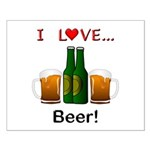 I Love Beer Small Poster