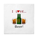 I Love Beer Queen Duvet