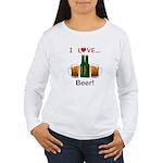 I Love Beer Women's Long Sleeve T-Shirt