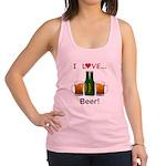 I Love Beer Racerback Tank Top