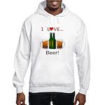 I Love Beer Hooded Sweatshirt