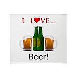 I Love Beer Throw Blanket