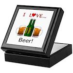 I Love Beer Keepsake Box