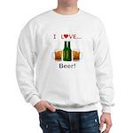 I Love Beer Sweatshirt