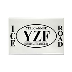 Yellowknife Ice Road Rectangle Magnet