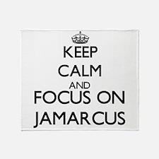 Keep Calm and Focus on Jamarcus Throw Blanket
