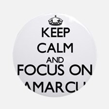 Keep Calm and Focus on Jamarcus Ornament (Round)