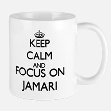 Keep Calm and Focus on Jamari Mugs