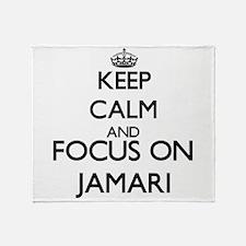 Keep Calm and Focus on Jamari Throw Blanket