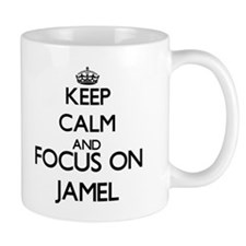 Keep Calm and Focus on Jamel Mugs
