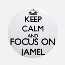 Keep Calm and Focus on Jamel Ornament (Round)