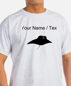 Manta Ray Silhouette (Custom) T-Shirt