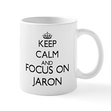 Keep Calm and Focus on Jaron Mugs