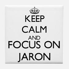 Keep Calm and Focus on Jaron Tile Coaster