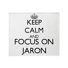 Keep Calm and Focus on Jaron Throw Blanket
