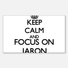 Keep Calm and Focus on Jaron Decal