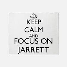 Keep Calm and Focus on Jarrett Throw Blanket