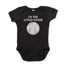 Im The Little Sister Baseball Baby Bodysuit