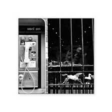 "Payphone Square Sticker 3"" x 3"""