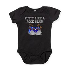 Potty Like A Rock Star Baby Bodysuit