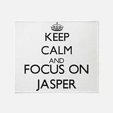 Keep Calm and Focus on Jasper Throw Blanket