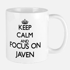 Keep Calm and Focus on Javen Mugs