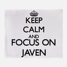 Keep Calm and Focus on Javen Throw Blanket
