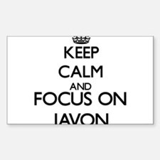 Keep Calm and Focus on Javon Decal