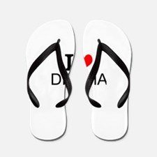 I Love Drama Flip Flops