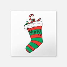 Hung Stocking Sticker