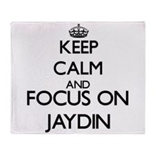 Keep Calm and Focus on Jaydin Throw Blanket