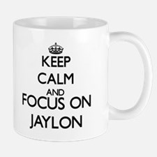 Keep Calm and Focus on Jaylon Mugs