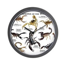 Scorpions of the World Wall Clock
