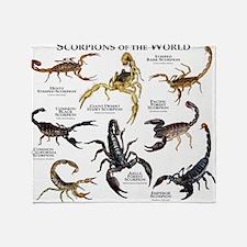 Scorpions of the World Throw Blanket