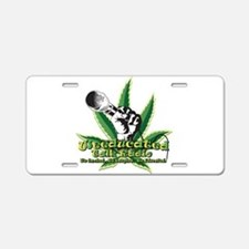 weeducated logo nobg Aluminum License Plate