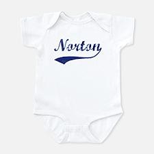Norton - vintage (blue) Infant Bodysuit