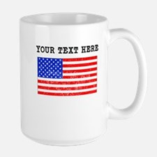 Custom Distressed United States Flag Mugs