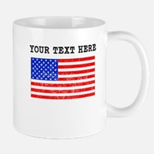 Custom Distressed United States Flag Mugs