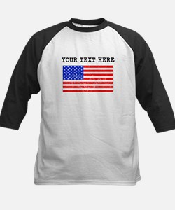 Custom Distressed United States Flag Baseball Jers